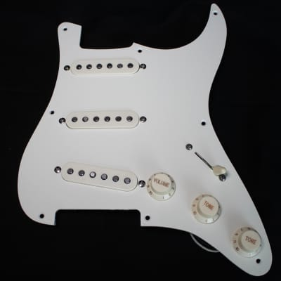 chubtone pickups 1967 loaded strat pickguard - emerson capacitor - eric  johnson style wiring