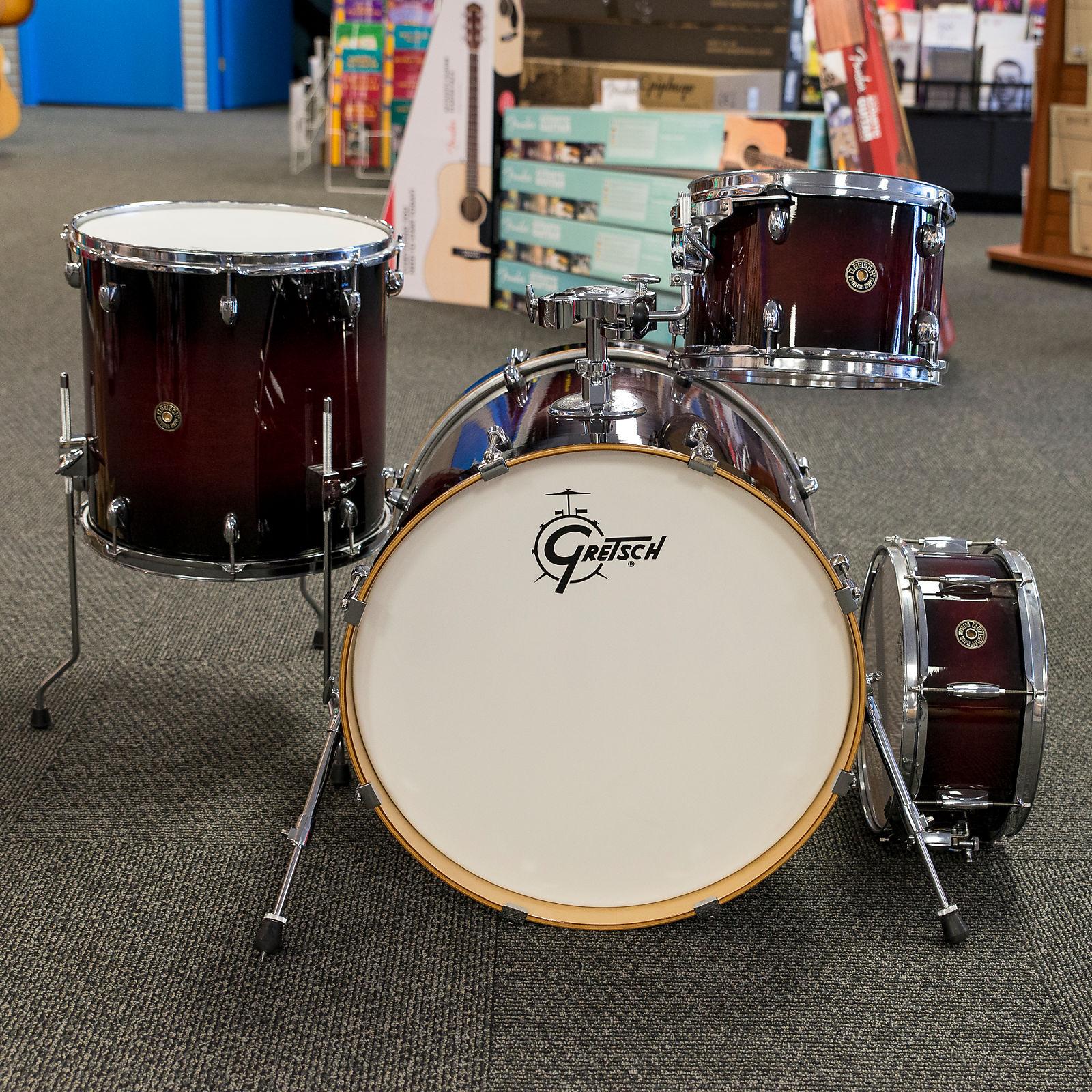 Gretsch Catalina Maple 4 Piece Shell Drum Set In Dark Cherry Burst