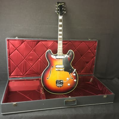 1960's Welson DS-2T Hollow Body Electric Guitar Made in Italy for sale