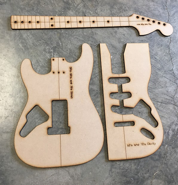 Guitar Building Templates Late 60\'s and 70\'s Strat | Reverb
