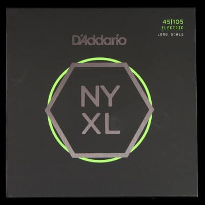 D'Addario NYXL Light Top/Medium Bottom 45-105 Nickel Wound Electric Bass Strings