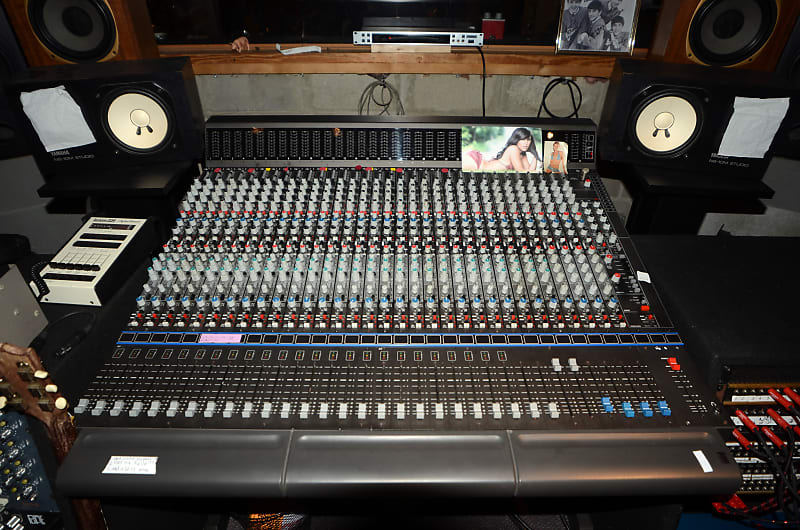 Vintage Mixing Console AMEK Big 28 56 returns + Rupert Neve Design  Automation and Recall
