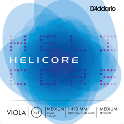 "D'Addario Helicore Viola Strings, Short Scale (14""-15""), G- Nickel Wound/Solid Steel Core"