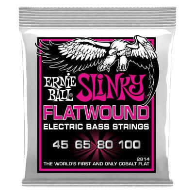 Ernie Ball 2814 Super Slinky Flatwound Electric Bass Strings - .045-.100