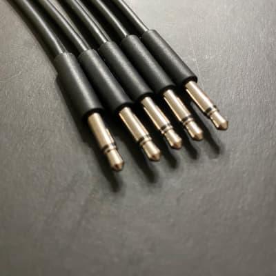 Eurorack Patch Cable 12 inch (5pcs) Black