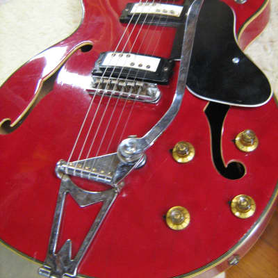 Kimberly VIP6 MIJ Mid 60's Cherry Red Hollowbody Electric Guitar for sale