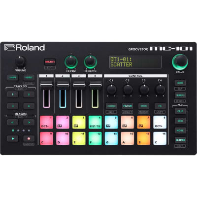 Roland MC-101 Groovebox Sequencer Sampler Production Platform, 16 RGB Pads