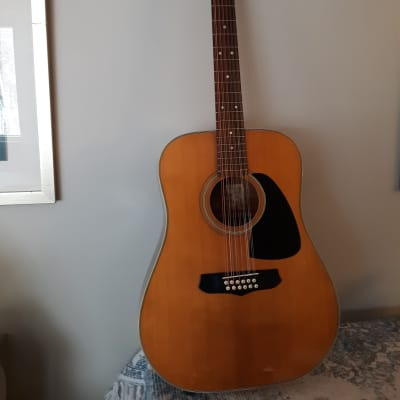 Aria LW15 T, 12 String Acoustic, 1980, MIJ, Natural, Amazing Sound! for sale