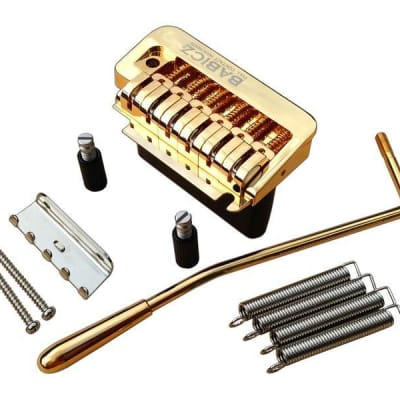 Babicz Full Contact Hardware 2 Point Strat Guitar Tremolo, Gold for sale