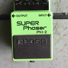 Vintage 1987 Roland Boss PH-2 Super Phaser Guitar Effect Pedal Black Label Made In Japan With Box