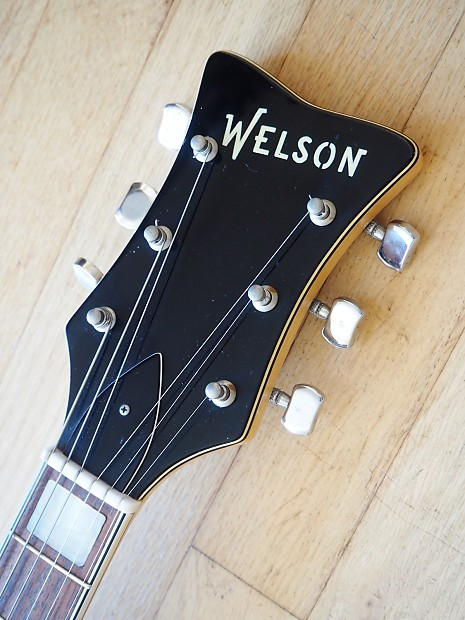 1960s welson ds2 vintage hollowbody electric guitar near mint reverb. Black Bedroom Furniture Sets. Home Design Ideas