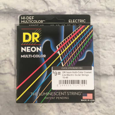 DR Neon Multi-Color Coated Lite Electric Guitar Strings 10-46