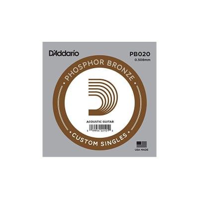 D'Addario Phosphor Bronze Acoustic Single String PB020