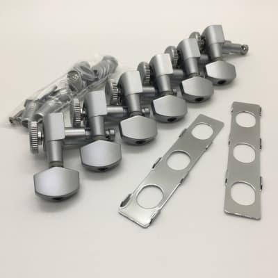 Hipshot Grip-Lock Locking Satin Chrome Tuner Upgrade