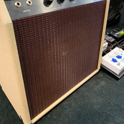 Jim Kelley / Fortune Amp All Tube Hand Builtk 1979 Creme with Oxblood Grille for sale