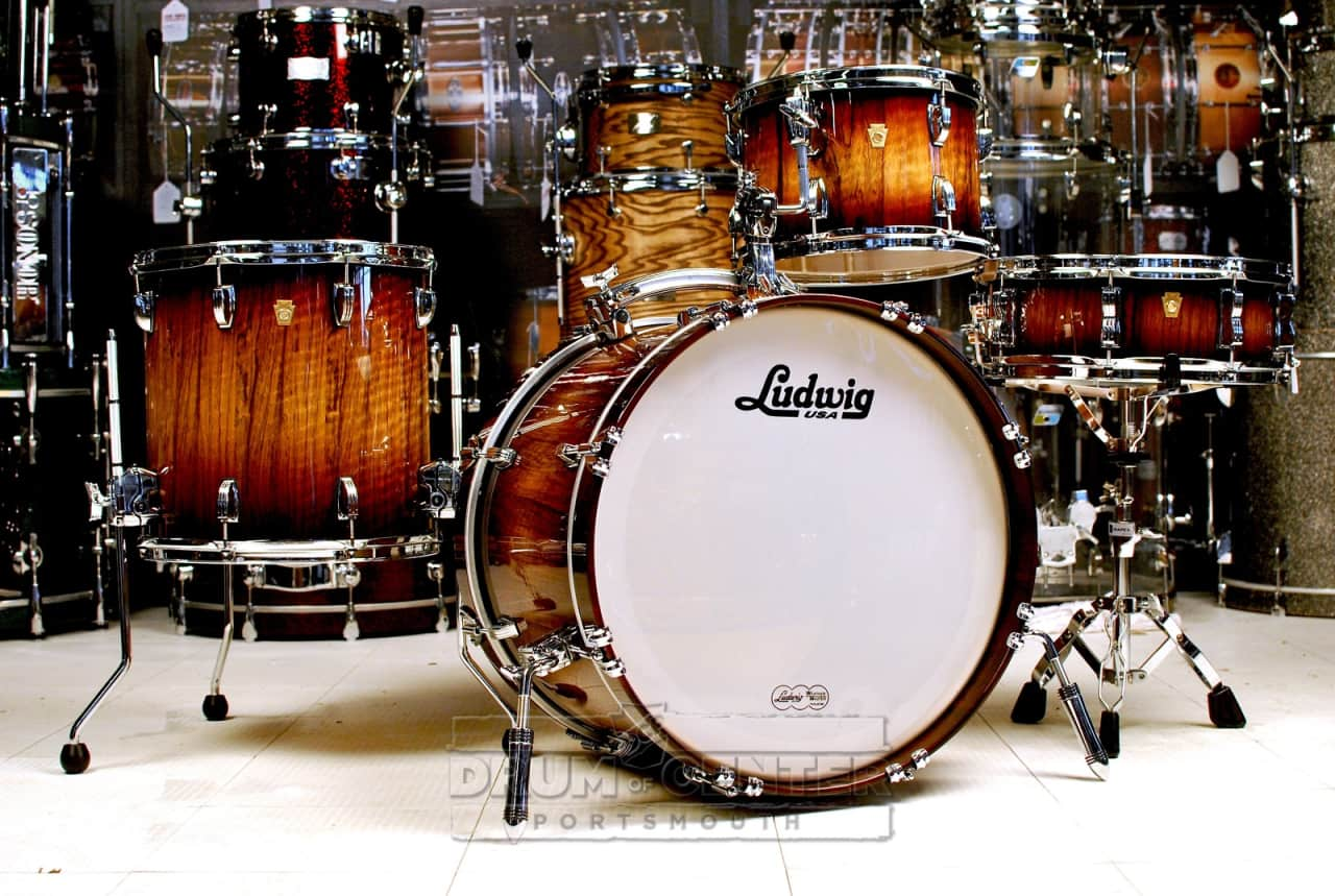 ludwig legacy 4pc drum set limba mahogany burst demo kit reverb. Black Bedroom Furniture Sets. Home Design Ideas