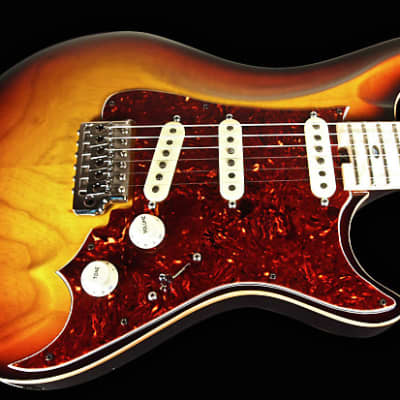 2013 Warrior Texan '54 Limited Edition with Jimmy Wallace Pickups ~ 3-Tone Sunburst for sale