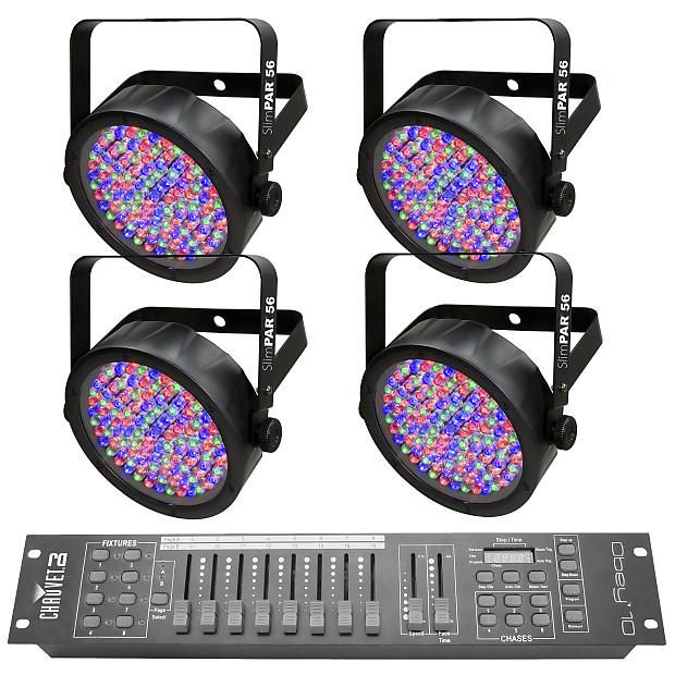 Chauvet Dj Slimpar 56 Led Par Can Lighting Effect 4 Pack