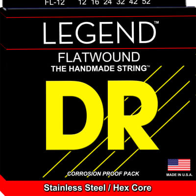 DR Strings FL-12 Legend Flatwound Electric Strings - 12-52 for sale