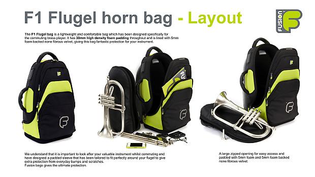 Gig Bag Backpack Inner Sleeve Rugged Comfortable Fusion F1 Flugelhorn Orange
