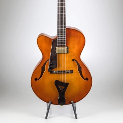 Comins Concert Archtop - Warm Violin Shading / Left Hand for sale