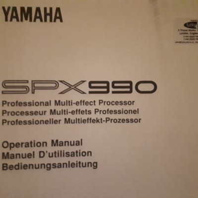 Yamaha SPX 990 Professional Multi-Effect Processor Operation Manual in English, French and German