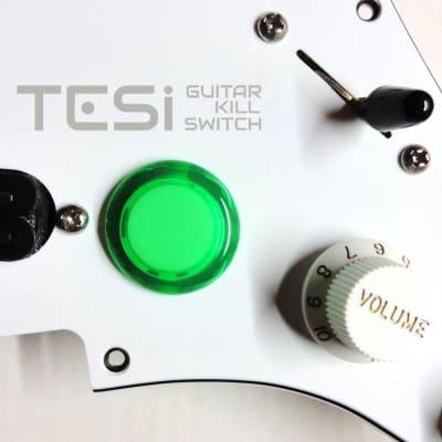 Tesi DITO 24MM Momentary Arcade Push Button Guitar Kill Switch Translucent Green