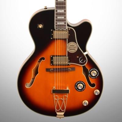 Epiphone Joe Pass Emperor-II PRO Electric Guitar, Vintage Sunburst