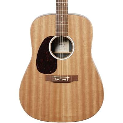 Martin D-X2EL-04 Lefty Acoustic Electric Guitar, Sapele/Macassar HPL w/Gig Bag