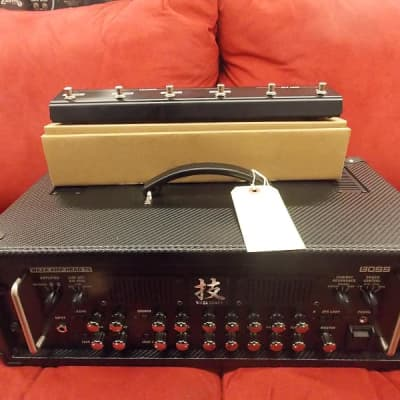 Boss Waza head Boss Waza HD-75 amp head with cover and foot switch