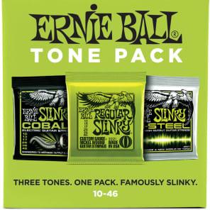 Ernie Ball 3331 Tone Pack Slinky/Cobalt/M-Steel Electric Guitar Strings (10-46)