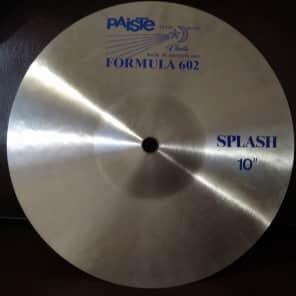 "Paiste 10"" Formula 602 ""Blue Label"" Splash Cymbal"
