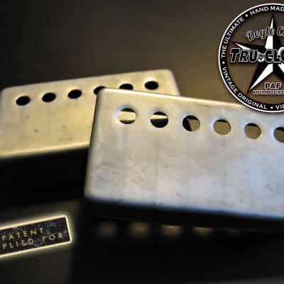 Doyle Coils Nickel Silver Aged PAF Humbucker Covers ~ Relic'd Nickel Silver