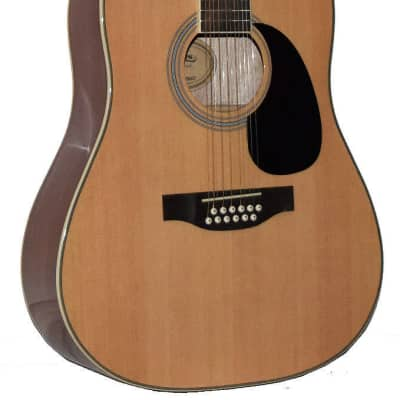 NEW MADERA 12 STRING NATURAL COLOR FULL SIZE ACOUSTIC GUITAR- SP411-12 NAT for sale