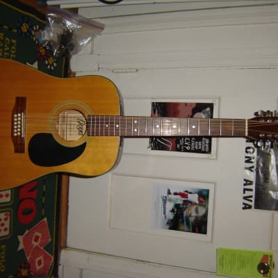 1990's Goya 415N 12-string acoustic guitar with hsc natural for sale