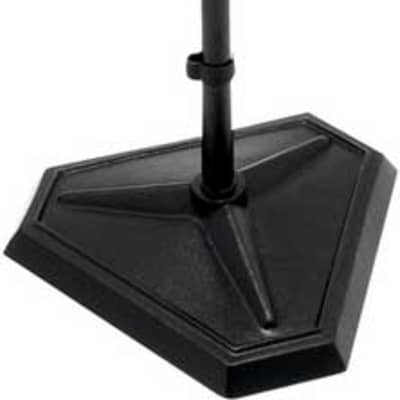 """On-Stage MS7625B 33-61"""" Hex Base Quarter Turn Threadless Microphone Stand, Black"""