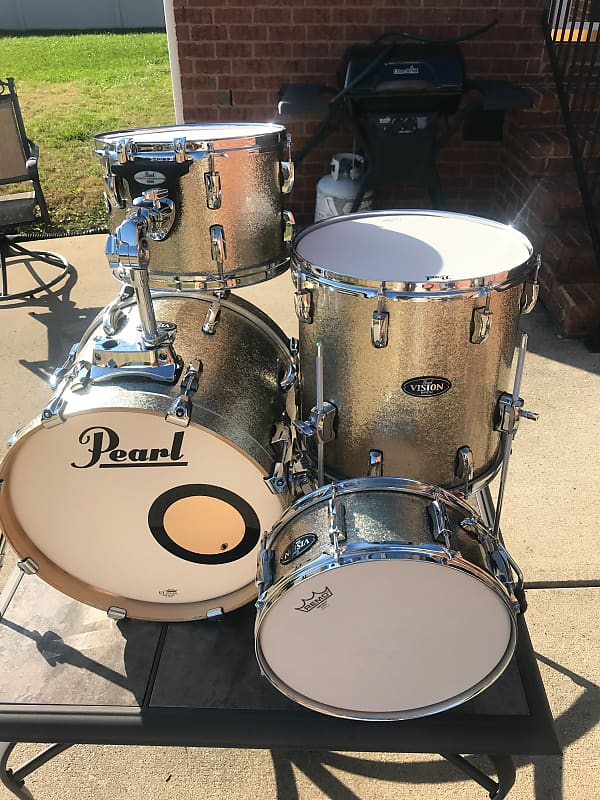 pearl pearl vision birch 4 piece drum set the boro reverb. Black Bedroom Furniture Sets. Home Design Ideas