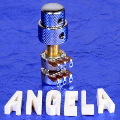 Angela Instruments Generic 250K/250K Audio Taper Concentric Solid Shaft Volume / Tone Potentiometers