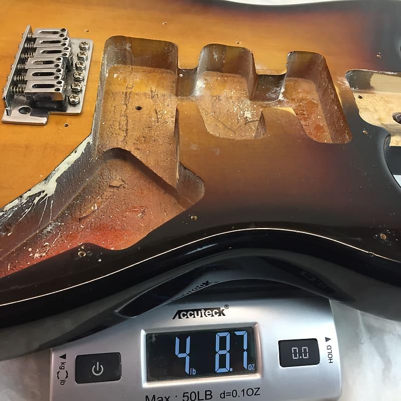 fender squier strat uni guitar body 2005 sunburst w trem reverb. Black Bedroom Furniture Sets. Home Design Ideas