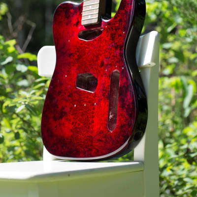 """Telecaster """"Bloody Sunset"""" (Only Body)"""