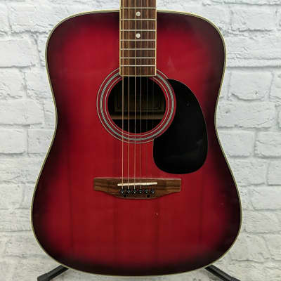 Carlo Robelli CW4102 Red Acoustic Guitar for sale