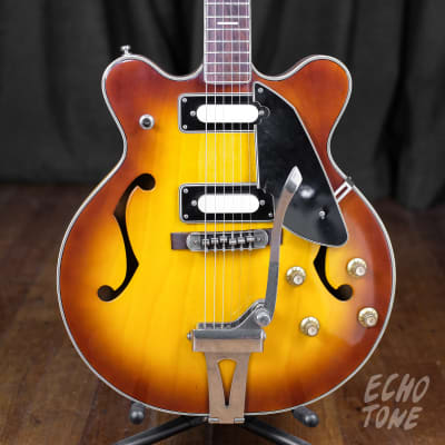 1960s Canora Hollowbody Electric Guitar (Made in Japan, Sunburst) for sale