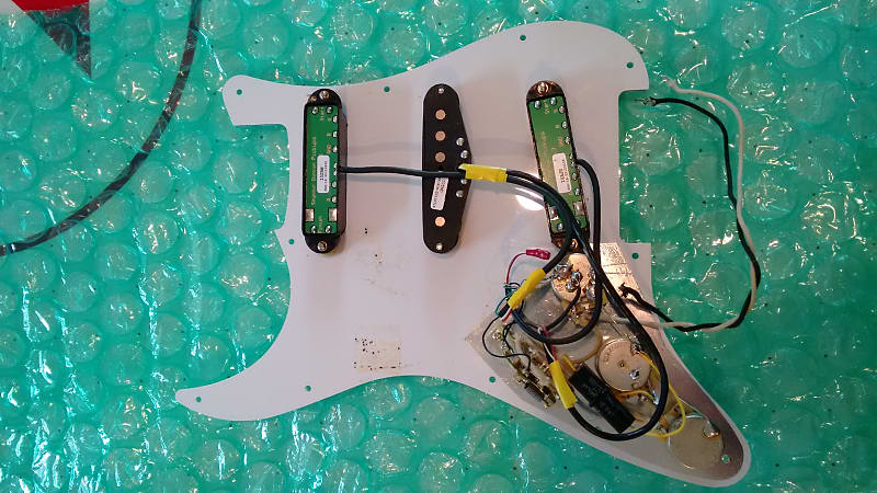SD Hot Rails + Classic Stack loaded Stratocaster pickguard | Reverb
