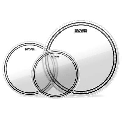 """Evans ETP-EC2SCLR-S EC2 Clear Standard (12/13/16"""") Tom Drum Head Pack"""