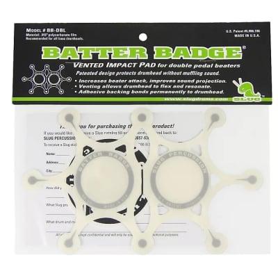 Beater Badge SLUG Percussion Double Beater Batter Badge Drum Impact Pads