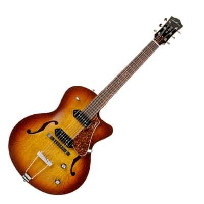 Godin 5th Avenue CW Kingpin II Cognacburst Electric Guitar with case Hollowbody Cognac Burst