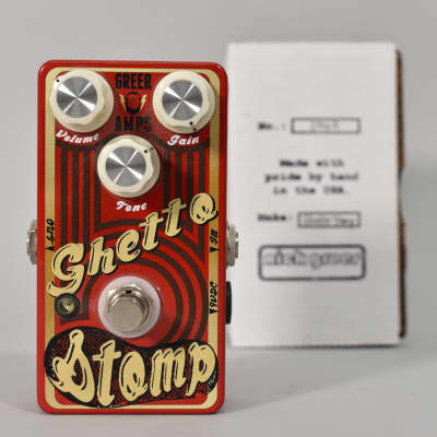 Greer Ghetto Stomp Overdrive Effect Pedal Made In USA