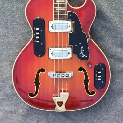 Goya Rangemaster Bass 1966 Cherry Sunburst for sale
