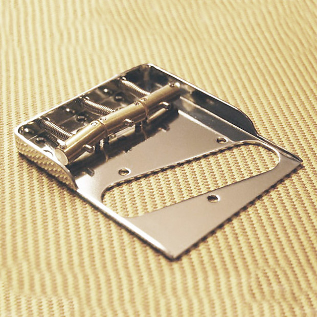 Fender Telecaster Bridge Plate w// Hybrid Double Notches /& Drilled for Top-Load