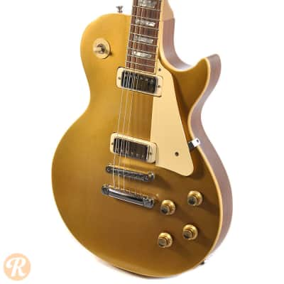gibson les paul deluxe 1975 goldtop price guide reverb. Black Bedroom Furniture Sets. Home Design Ideas